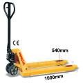 Palletwagen 2500 kg 1000mm L / wielen-rubber/ dubbel poly
