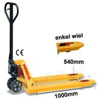 Palletwagen 2500 kg 1000mm L / wielen-poly/enkel poly