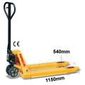 Palletwagen 2500 kg 1150mm L / wielen-poly/dubbel poly