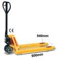 Palletwagen 2500 kg 600mm L / wielen-rubber/dubbel poly