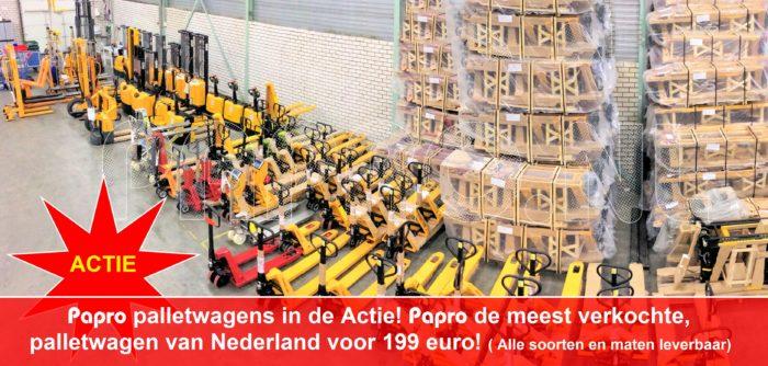 Palletwagen Aktie put uit de grootste voorraad van Nederland!