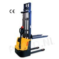 Stapelaar vol elektrisch 1000 KG/ hefhoogte 1600mm